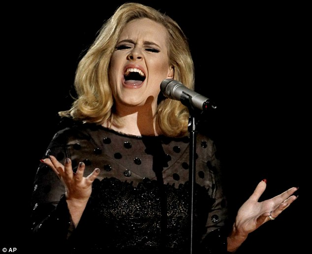 The team, led by Dr Annemieke Van den Tol of De Montfort University in Leicester, looked at the listening habits of around 450 people going through a range of emotional circumstances. They found people who listened to sad music, by artists such as Adele (pictured), were better able to come to terms with loss