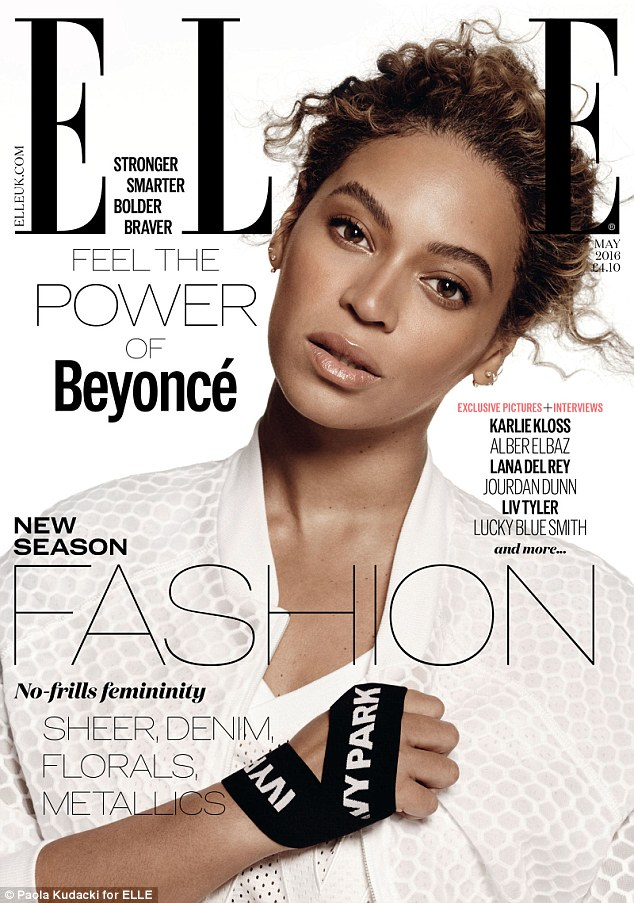 Workout wonder: Changing outfits for her second cover shoot, Beyonce was equally as dazzling as she posed for a close up that highlighted her breathtaking beauty