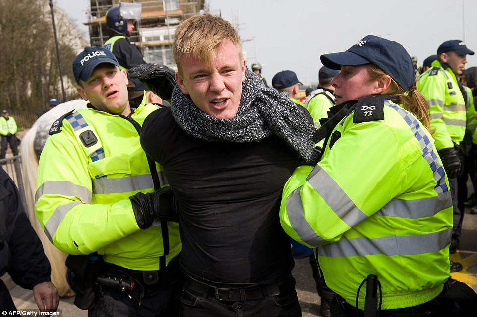 Officers also imposed conditions on organisers and protesters in terms of the route and timing of the march and the assembly point for opposing protesters