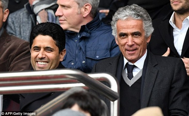 Nasser Al-Khelaifi (left) is the president of PSG, and has been at the club since the October 2011 takeover