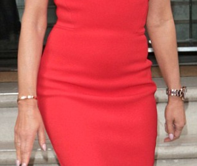 Red Dy For Action Amanda Holden Arrived At The Britains Got Talent Photocall At