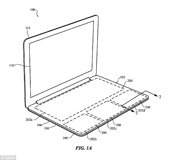 Apple patent shows laptop design with giant touchpad that