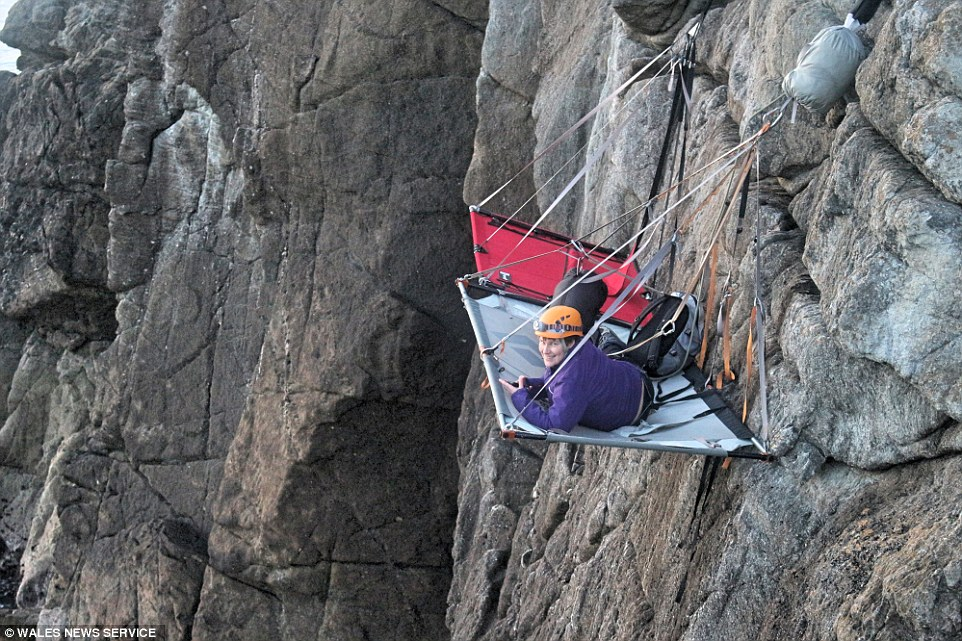 Gaia Adventuress cliff hanging hotel on Welsh coast is