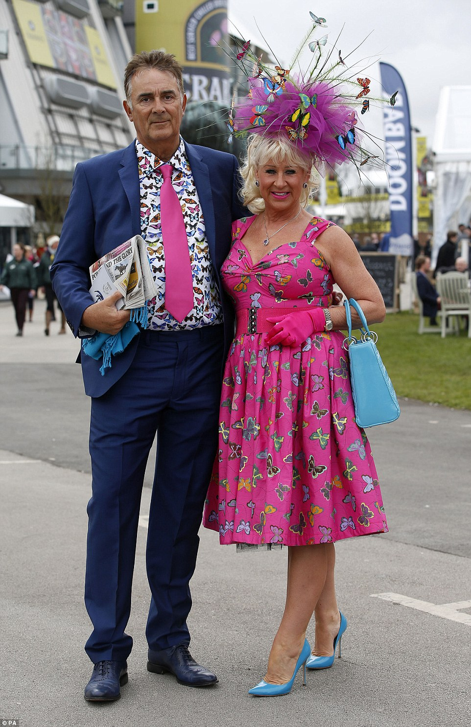 A couple ensured they stood out from the crowd by both rocking butterfly prints