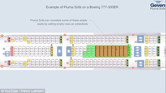 sleeper sofa under 200 neutral colors piuma allows passengers to convert economy class ...