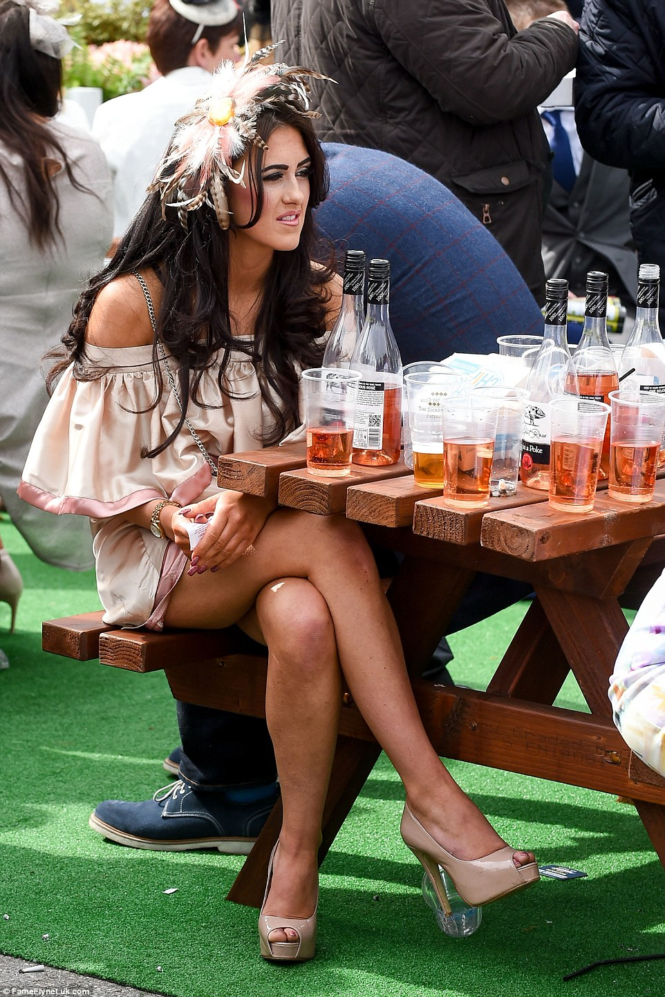 Rose wine seemed to be a very popular tipple for revellers at the second day of the festival