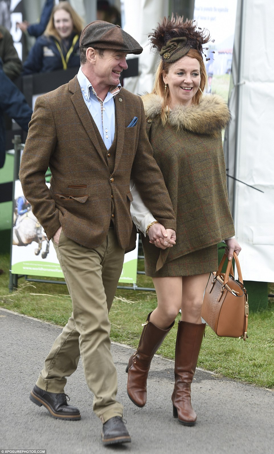 A co-ordinated couple looked the part in perfectly matching outfits