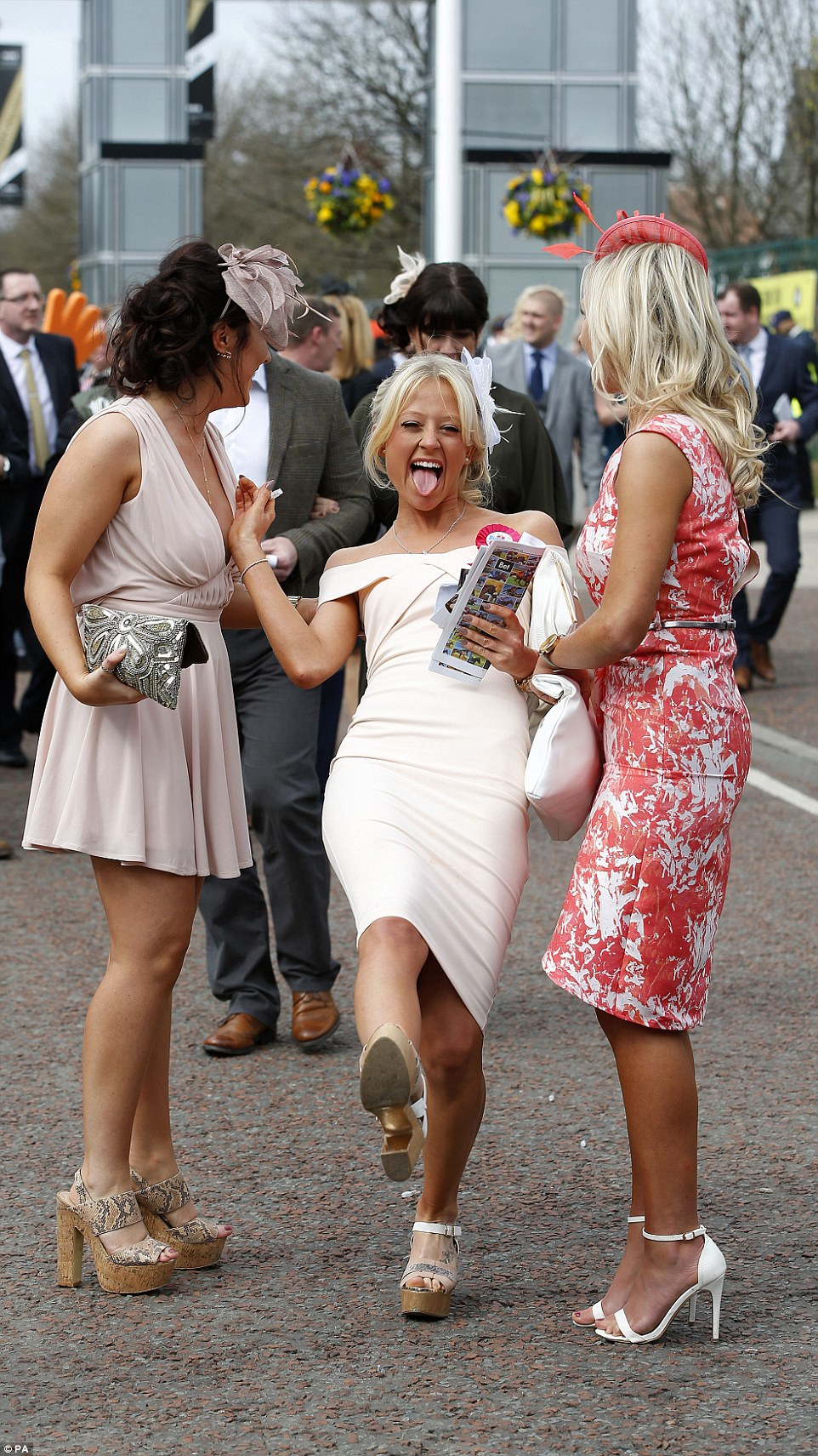 The day was only just getting started but already partygoers seemed to be in a festive mood