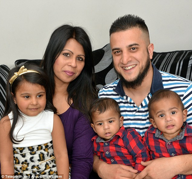 Family: Mr Shabir with his wife Kalsoom and their children Amirah, Adam and Isa