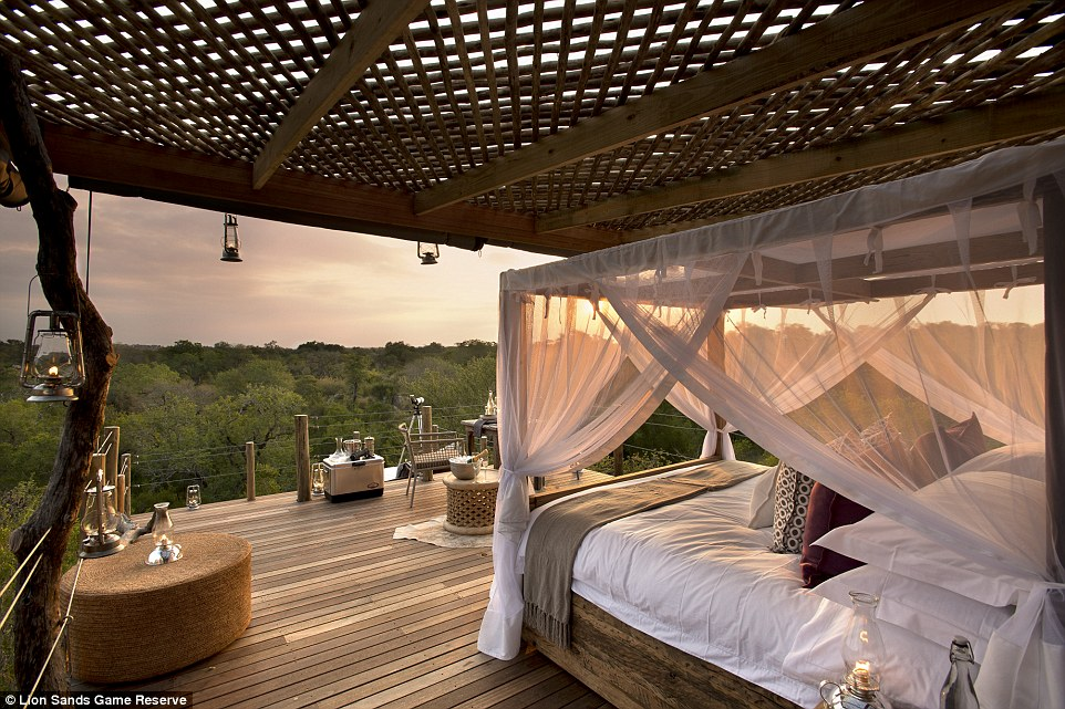 While the treehouses are almost entirely open air, all guests are connected to hotel staff via a two-way radio for their entire stay
