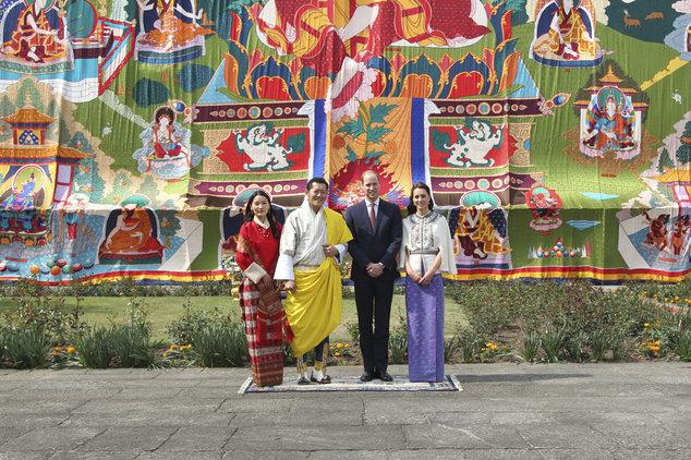 Công tước và Công nương Anh quốc cùng Đức Vua và Hoàng Hậu Bhutan