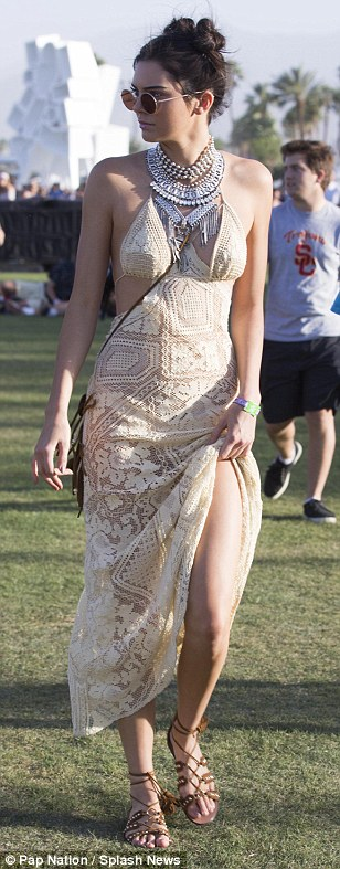 The 20-year-old treated the festival like a catwalk show