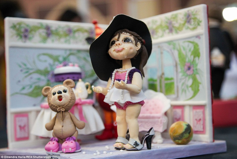 Youth: As well as fantasy and nature, children was another popular theme at the expo and this cake shows a little girl in her bedroom