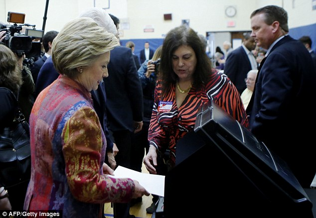 Hillary Clinton made her most important campaign stop of the New York primary early this morning - her polling location in Chappaqua, where she cast her ballot in the presidential election