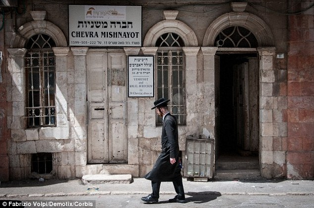 Researchers say the DNA of Yiddish speakers may have originated from four ancient villages in north-eastern Turkey. This stock image shows a Yiddish man in Jerusalem