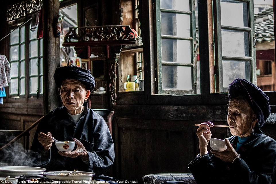 Photographer Karen Morris-Lanz was invited to have lunch with a husband and wife during her travels through Longsheng, China