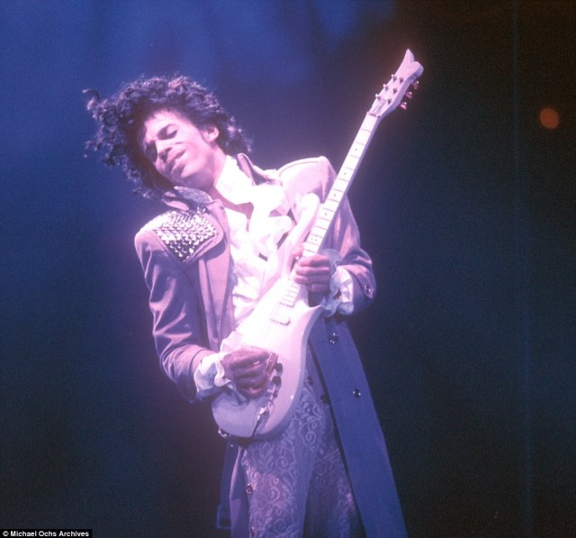 Prince (pictured in 1985) has died aged 57 at his estate in Minnesota, just days after he was rushed to hospital from his private plane with severe flu
