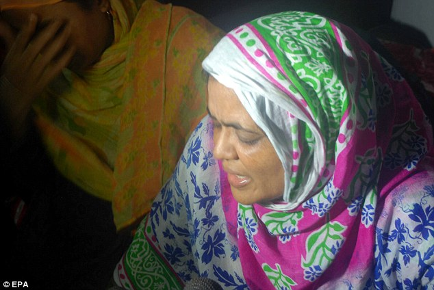 The sister of slain professor Siddiquee mourns after hearing the news of her brother's brutal death