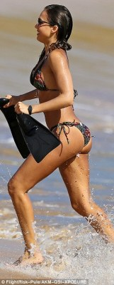 Birthday fun: Jessica Alba enjoyed a second day at the beach in Hawaii on Friday ahead