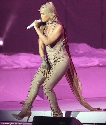 More RiRi to love: Rihanna showed off more curves when on stage in Vancouver, BC, Canada on Saturday