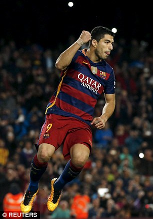 Barcelona forward Luis Suarez has a minute-to-goal ratio of 83.77