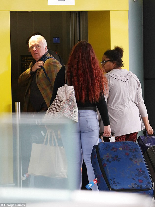 Dawn French 58 Lands In London With Family After