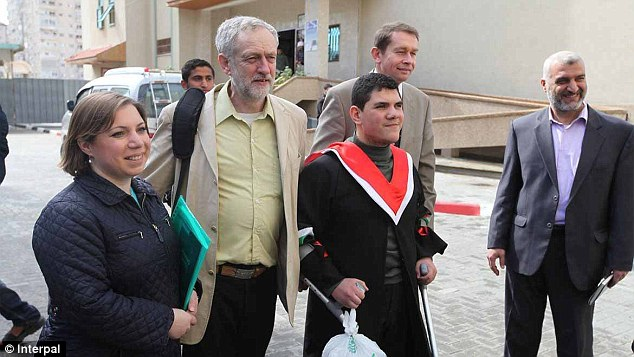 Tour: Jeremy Corbyn visits Gaza in 2013 on a tour paid for by Interpal, costing £2,800
