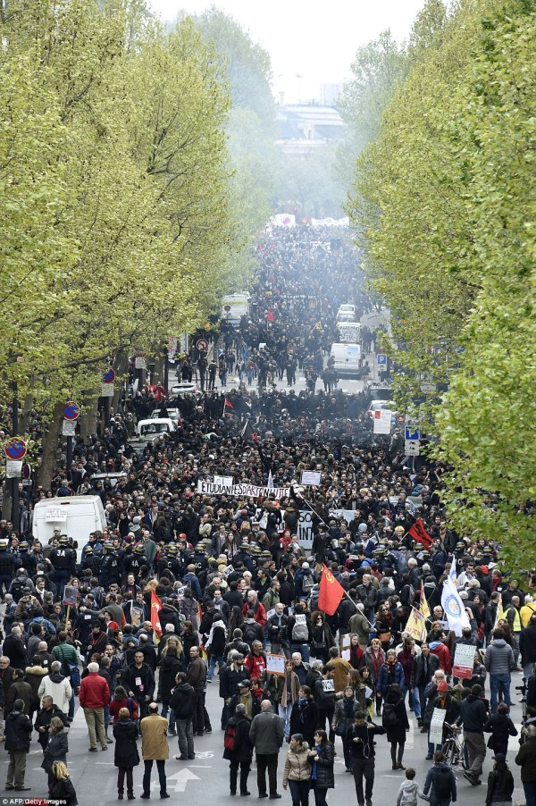 France Riots Over Labour Laws Sees Porsche In
