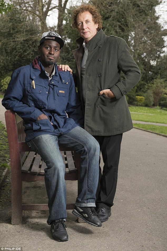 Dr Richard Hoskins (right) has been assisting Mardoche Yembi (left) after his experiences involving exorcism. Kristy Bamu, 15, was found dead in an East London high-rise in 2010