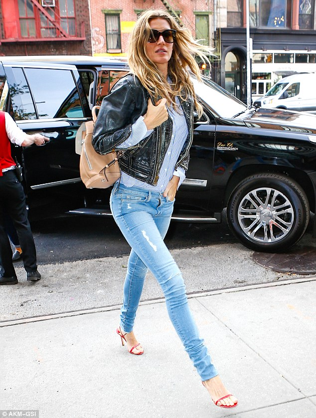 She's got legs! Gisele Bündchen put her endless stems on display as she arrived for her Met Gala fitting in New York City on Saturday