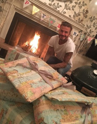 Lucky guy! The Beckham clan once again proved themselves to be a loving unit as patriarch David rang in his 41st birthday on Monday in a flurry of presents and tributes
