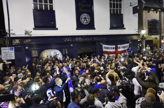 Leicester were crowned English Premier League champions for the first time in the club's history clinching the title after a tie between Chelsea and Tottenham