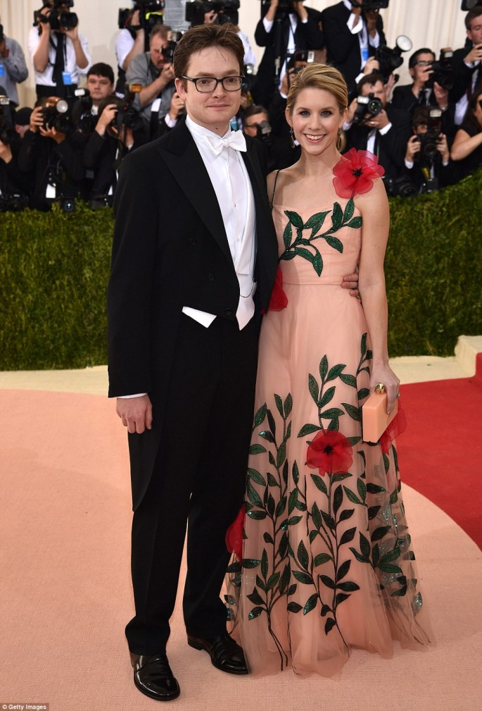 The whole gang: Wintour's sonCharles Shaffer brought his Elizabeth Cordry to the celeb packed event