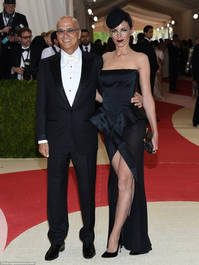 Taking her man: Liberty Ross took her new husband Jimmy Iovine as her date to the ball