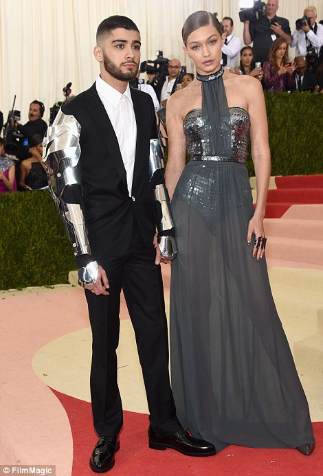 Model siblings: Gigi Hadid and her boyfriend Zayn Malik made their red carpet debut while Gigi's sister Bella arrived with her boyfriend The Weeknd