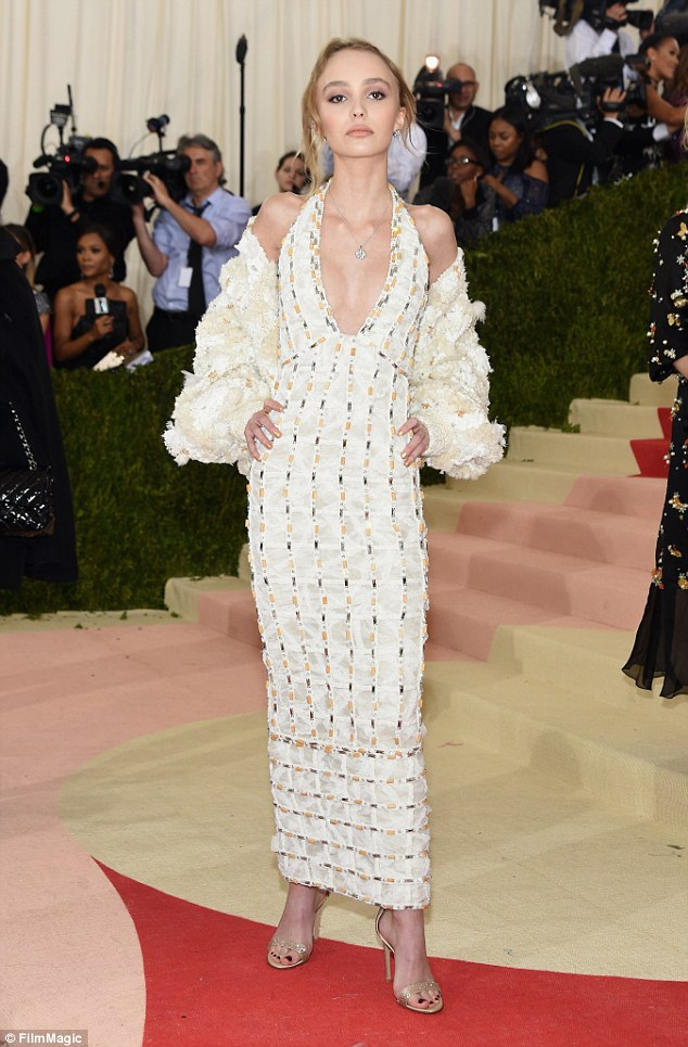 Image result for lily rose depp met gala 2015