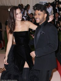 Bella Hadid sizzles in dramatic black gown with boyfriend ...