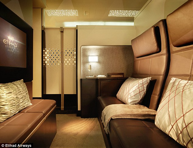 most expensive leather sofas in the world beige sofa living room etihad airlines residence is s flight from has a 32in flat screen tv double and