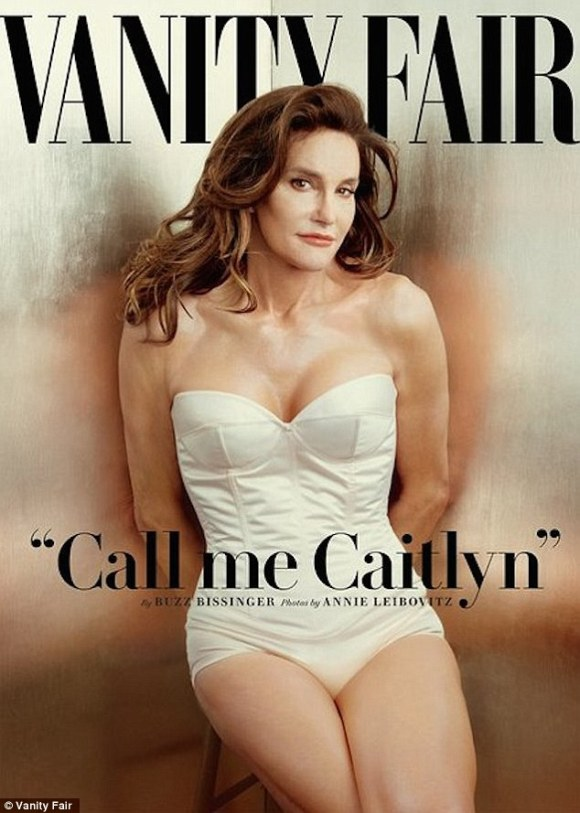 Cover girl: The 66-year-old first revealed herself as Caitlyn to the world on the cover of Vanity Fair last year
