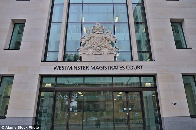 Westminster Magistrates¿ Court (pictured) heard Barci is accused of luring the two victims to their death in Albania in July 1997 with the promise of £340,000 in cash