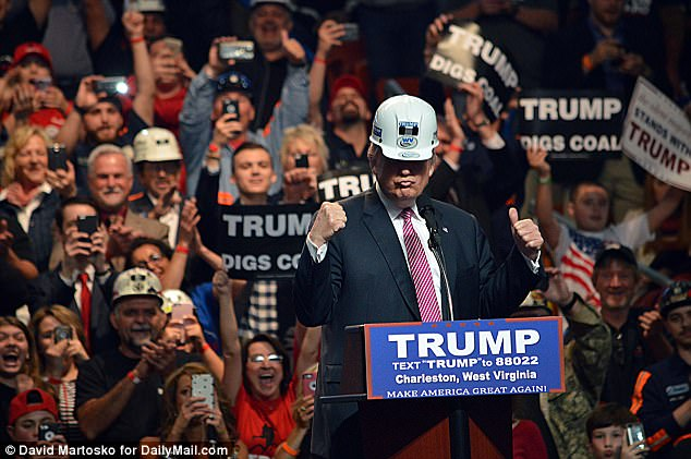 Image result for donald trump miners