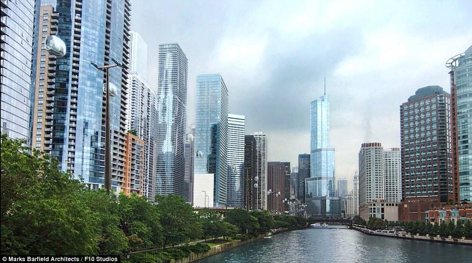I progettisti sperano di rendere il Chicago Skyline ecologico così i turisti possono esplorare luoghi vicino popolari come Millennium Park e Michigan Avenue, senza l'uso delle automobili