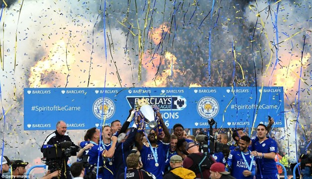 The celebrations were already well underway at the King Power Stadium when Morgan and Co lifted the trophy in front of their home fans