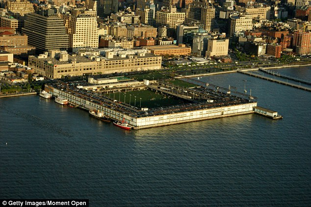 A ICE federal agent fatally shot himself in the head at waterfront Chelsea park (pictured) in New York Friday