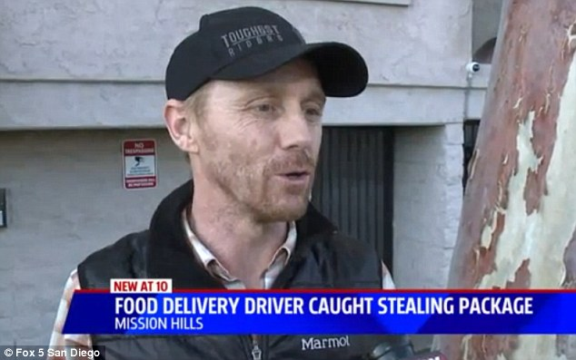 Food delivery driver caught on camera stealing a Mothers