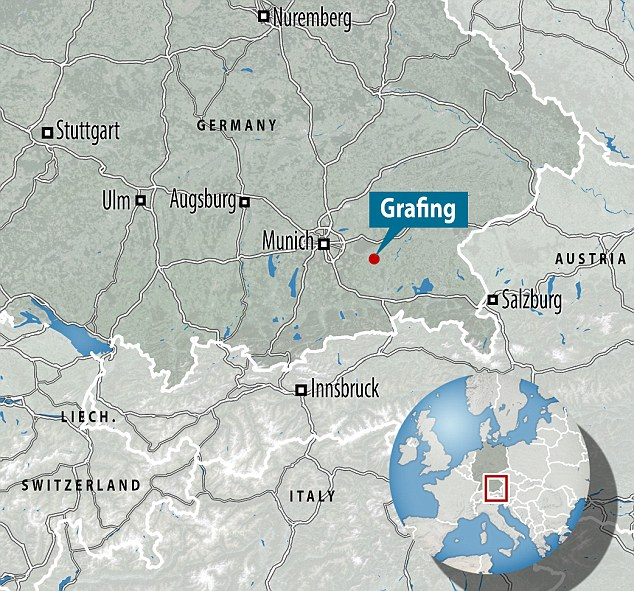 Grafing is on the outskirts of Munich. The passengers were waiting for a commuter train when the attack happened