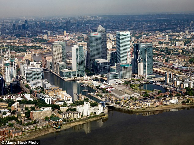It is alleged that the pair had drawings of Canary Wharf in London, pictured, on their phones along with pictures of other potential 'targets'