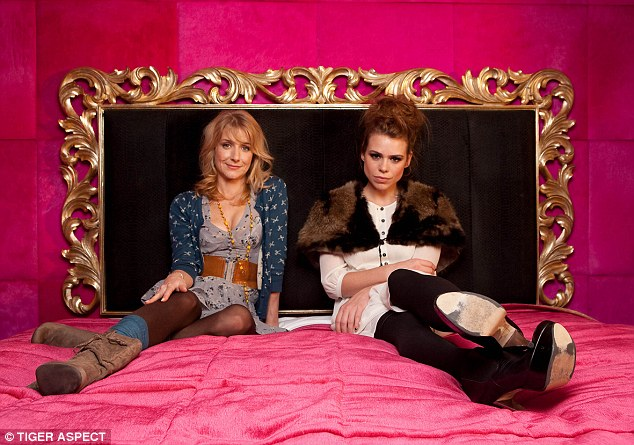 Dr Brooke Magnanti (left) gained fame as Belle de Jour, chronicling her activities while working as a call girl, which spawned a long-running TV series starring Billie Piper (right)