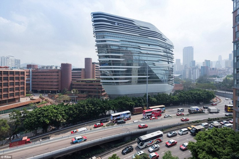 The Jockey Club Innovation Tower in Hong Kong was also designed by the late Zaha Hadid. The building in the Hung Hom district is home to the Hong Kong Polytechnic University and a school of design