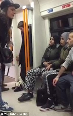 The argument appears to start after one of the Muslim women called one of the girls a 'white s***g'